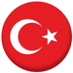 Turkey Country Flag 58mm Button Badge
